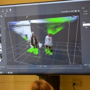 Computer screen showing how the Motion Capture Studio works