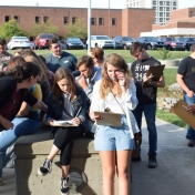 Madison Southern High School students prepare for their activity