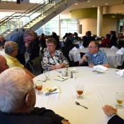 Biology and Geology faculty seated at table