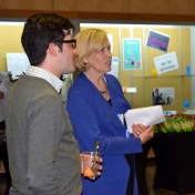 Jane Booth and Andrew Polter at reception