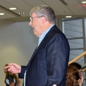 Dr. Gary Booth at the Alumni Lecture Series reception