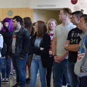 Madison Southern students listen to a welcome from EKU College of Science
