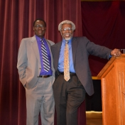 Professor Sylvester James Gates and Dr. Tom Otieno, Dean of College of Science