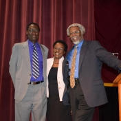 Professor Gates with Tom and Iddah Otieno.