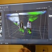 Image capture screen shows how 3-D images are made