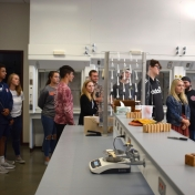 Madison Southern students coming into Chemistry Lab