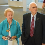 Retired Chemistry faculty John Davidson and wife, Martha