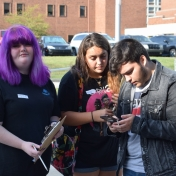 Madison Southern students record data in Natural Areas activity