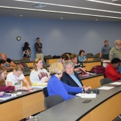 Audience at Prater's talk