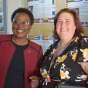 Dr. Iddah Otieno and Dr. Melissa Dieckmann take time for a photo