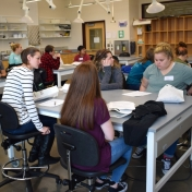 Madison Southern students learning about Enzymatic Biochemistry.