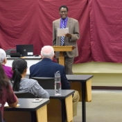 Dr. Tom Otieno introduces Donald Whitaker