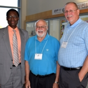 Dr. Tom Otieno, Dr. Jerry Cook (Physics) and Dr. Gary Kuhnhenn (Geosciences)