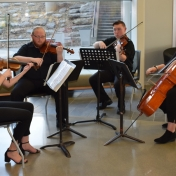 Dept. of Music string quartet provide music for the occassion