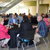 Retirees enjoy a great meal
